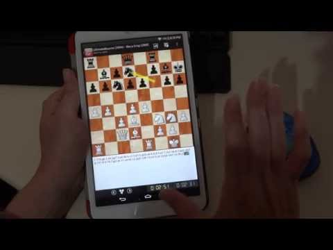 Playing chess on Playchess for Android