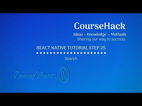 React Native Tutorial Step 25 – Search thumbnail