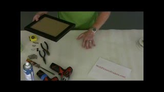 Framing Assembling/fitting Art Into Picture Frame Vid 1