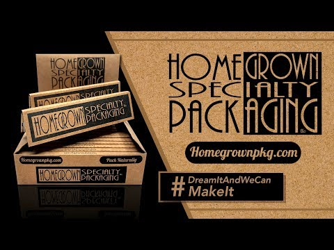 HOMEGROWN SPECIALTY PACKAGING ROLLING PAPER |  100% HEMP | KING SIZE SLIM