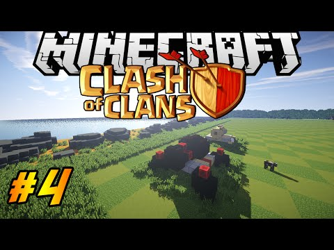 Clash of Clans in Minecraft | Making of #4 | CANNONS & PUBLIC SERVER
