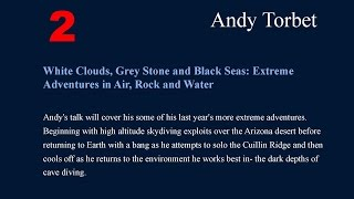 Andy Torbet - Royal Geographical Society, Endeavours 2