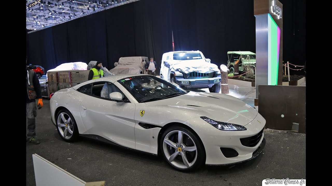White Ferrari Portofino Driving Sound Youtube