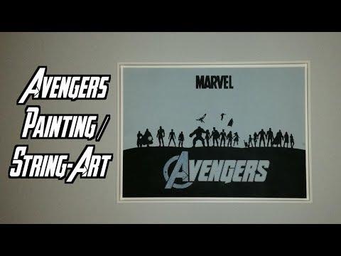 Avengers String-Art   10 Years MCU