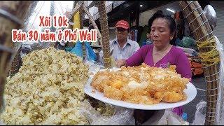 Gánh xôi bốc 'Tả Pín lù' giá 10 ngàn bán 30 năm trên vỉa hè phố Wall Sài Gòn