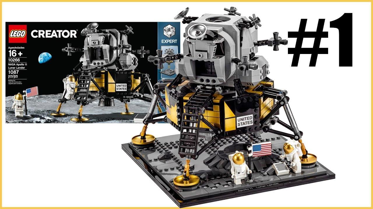 LEGO 10266 Creator NASA Apollo 11 Lunar Lander 1087pcs New Free Shipping