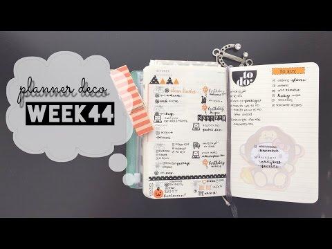 Planner Deco Week 44 ( Pocket Moleskine Weekly Planner)