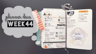 planner deco week 44 pocket moleskine weekly planner