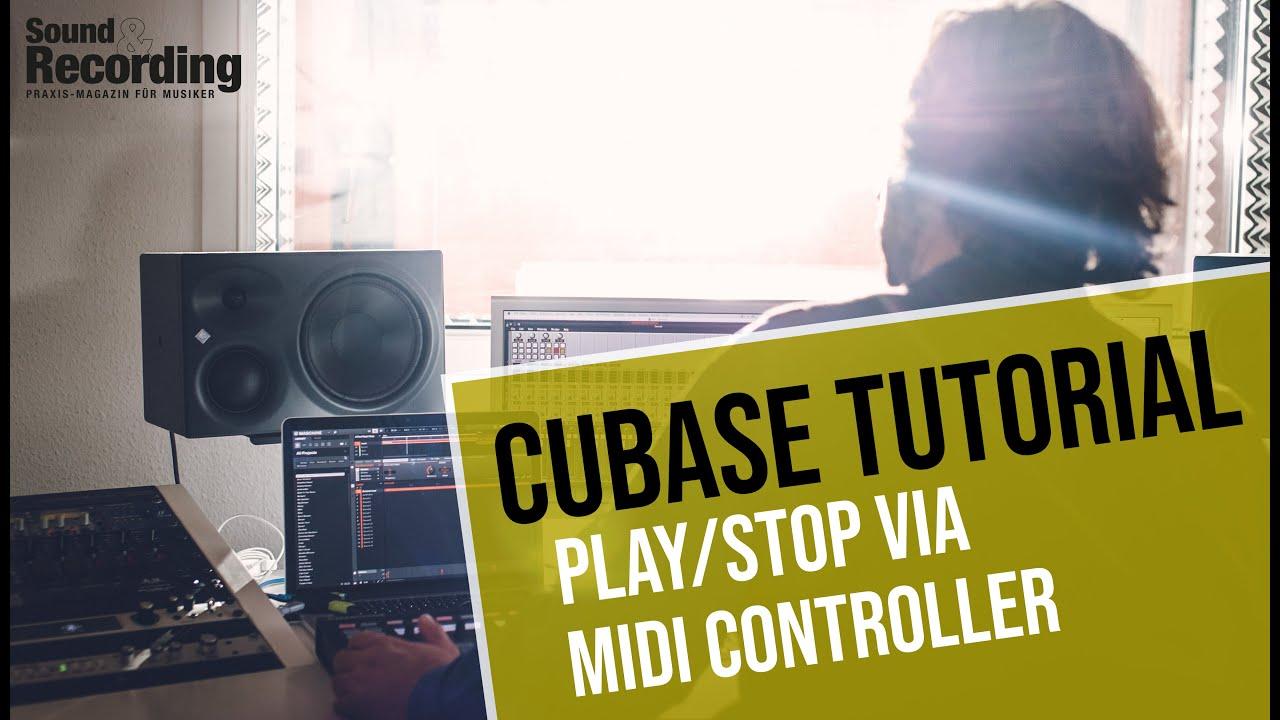cubase tutorial playstop via midi controller german deutsch sound recording youtube. Black Bedroom Furniture Sets. Home Design Ideas