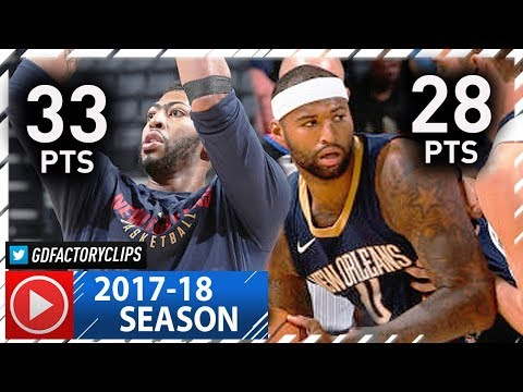 Anthony Davis & DeMarcus Cousins Full Highlights vs Grizzlies (2017.10.18) - 61 Pts, 28 Reb Total