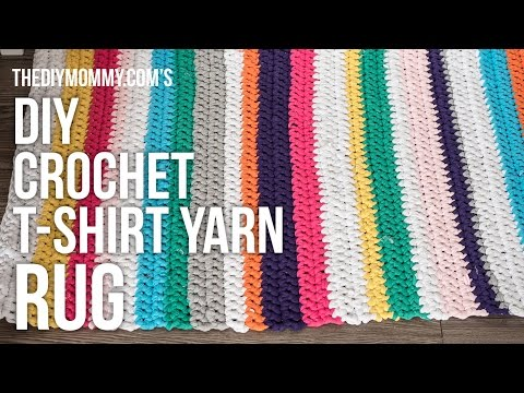 DIY Crochet T-shirt Yarn Rug Tutorial