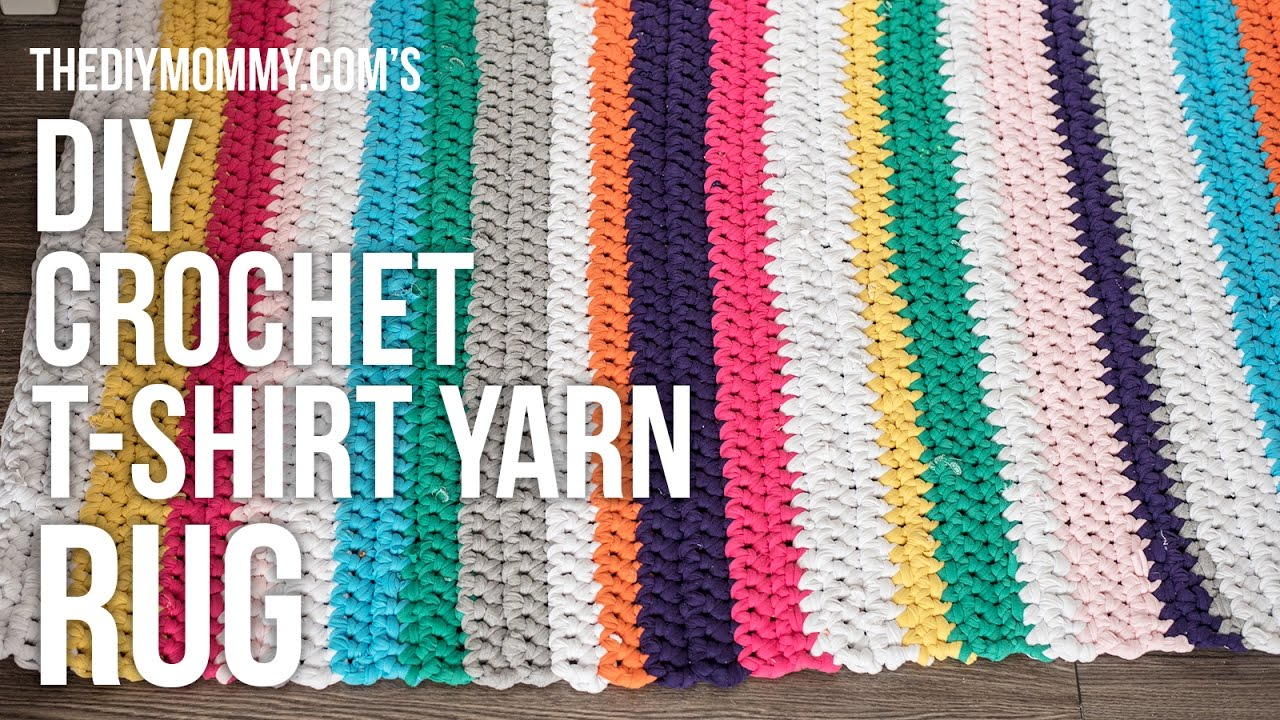 DIY Crochet T-shirt Yarn Rug Tutorial