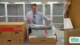 Принтер OKI с белым тонером C711WT: распаковка, первичная установка, демо-печать.