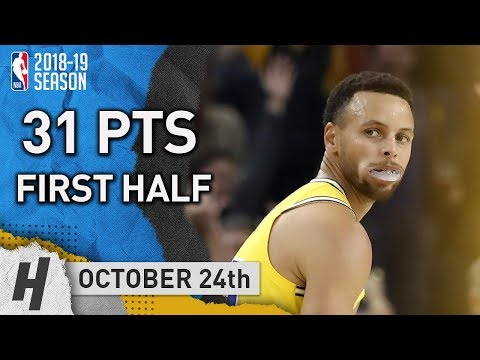 Stephen Curry Full Highlights Warriors vs Wizards 2018.10.24 - 31 Pts in FIRST HALF!