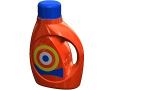 SolidWorks Surface Tutorial # 349: T  Bottle (advanced surfacing, no pictures - decals)