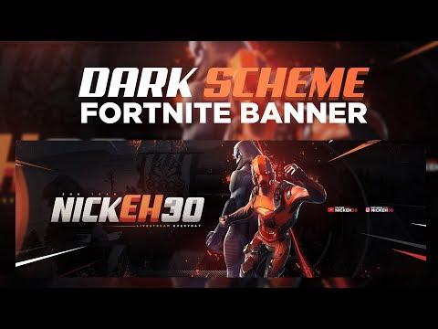 PS Tutorial: Creating Dark Scheme Fortnite Banner