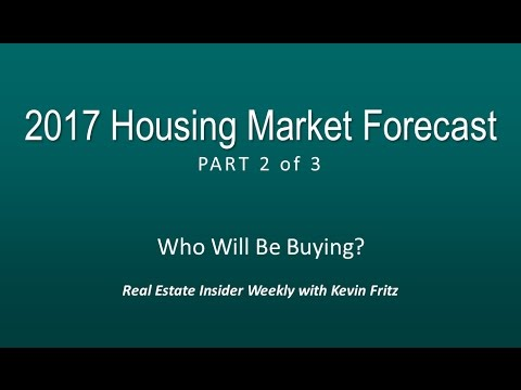 2017 Housing Market Forecast - Who Will be Buying?