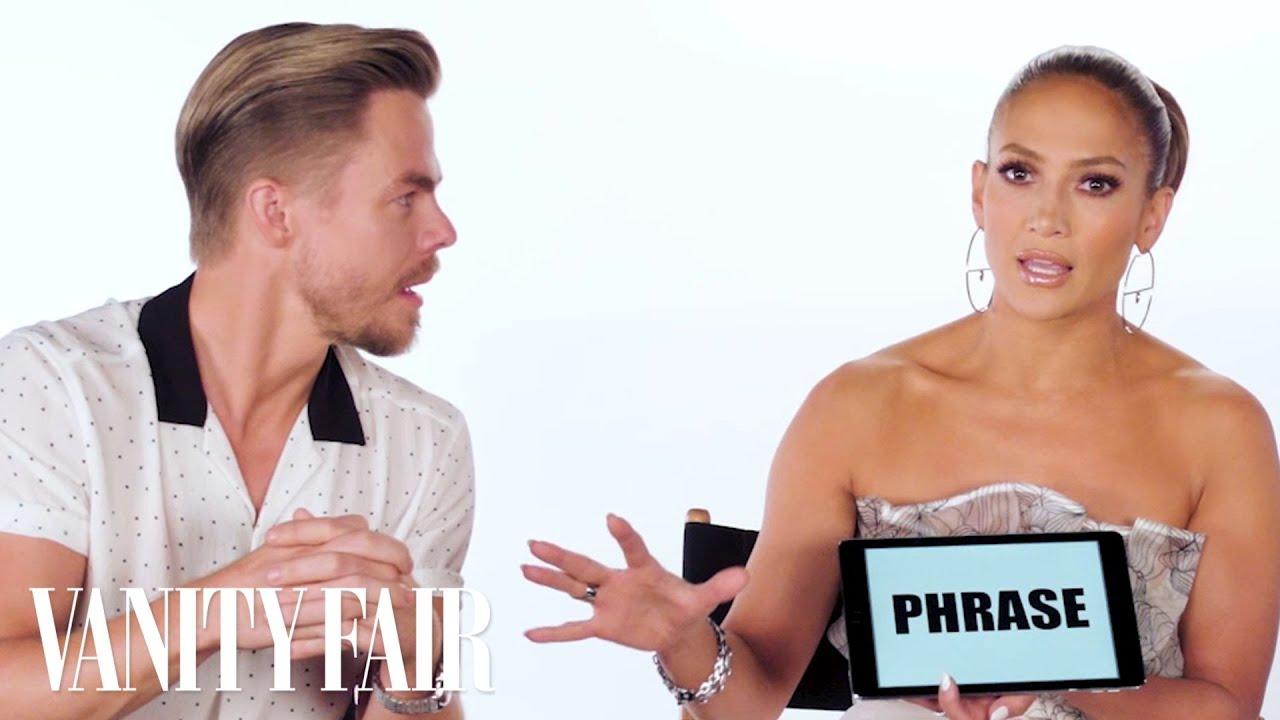 Jennifer Lopez Teaches You Dance Slang with Derek Hough and Ne-Yo   Vanity Fair