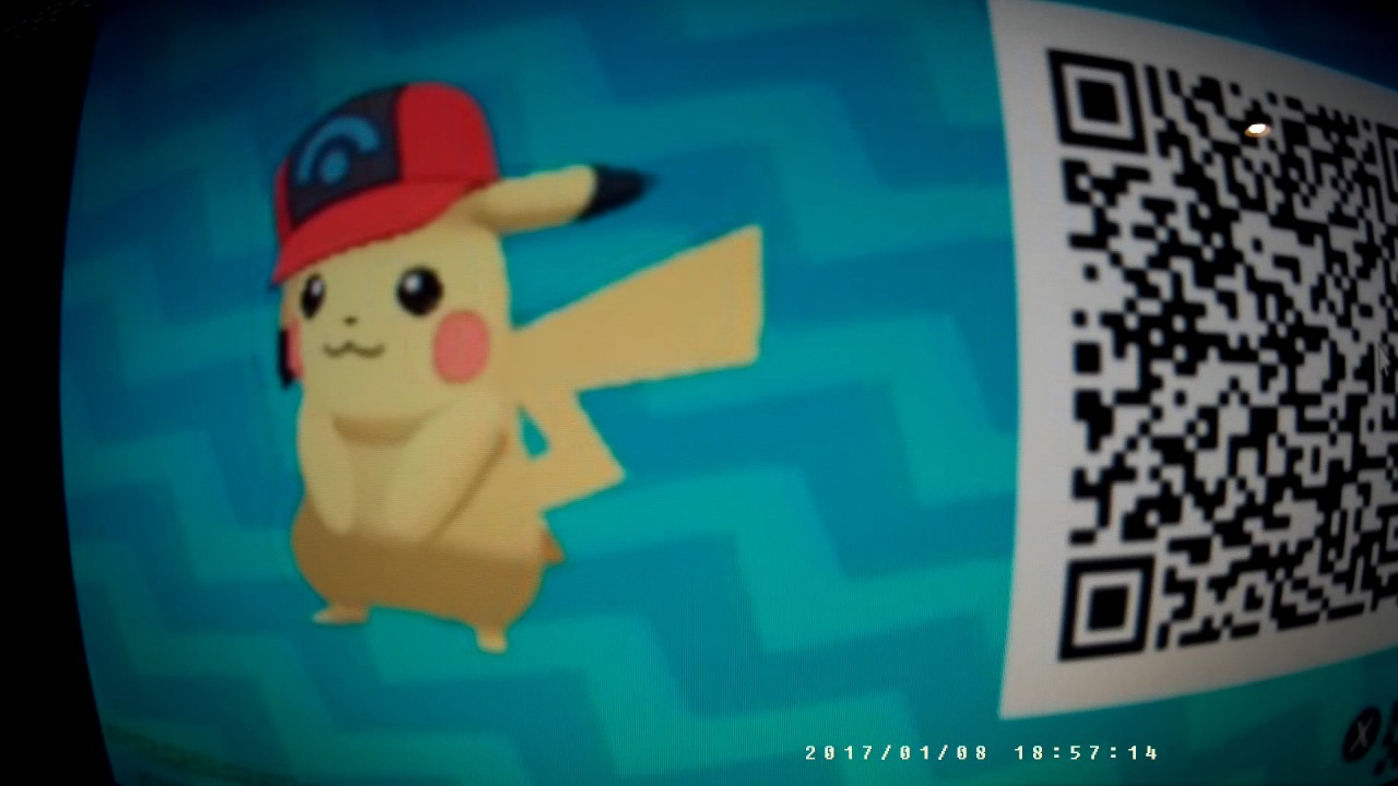 Pokemon sun and moon qr codes pikachu | Ash Pikachu QR Code