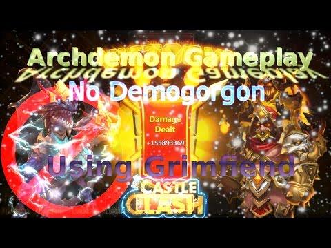 Castle Clash Archdemon Strategy Using Grimfiend (No Demogorgon)