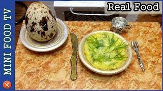 QUAIL EGG OMELETTE! Mini Food Cooking (Real Food)!   Miniature Cooking Show #MiniFoodTV