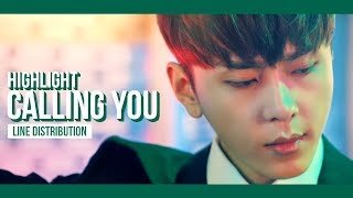 Highlight - Calling You Line Distribution (Color Coded)