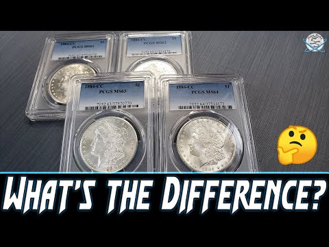 Comparing Mint State Morgan Silver Dollar Grades?