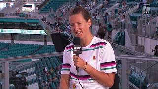 Victoria Azarenka - 2019 Miami First Round Tennis Channel Desk Interview