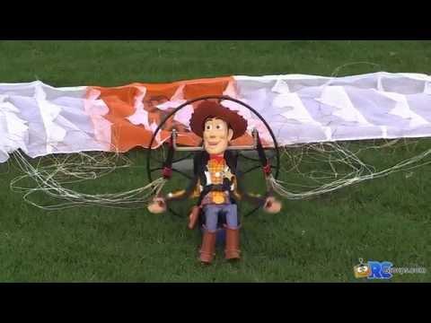 Hacker Powered Paraglider Flight Video