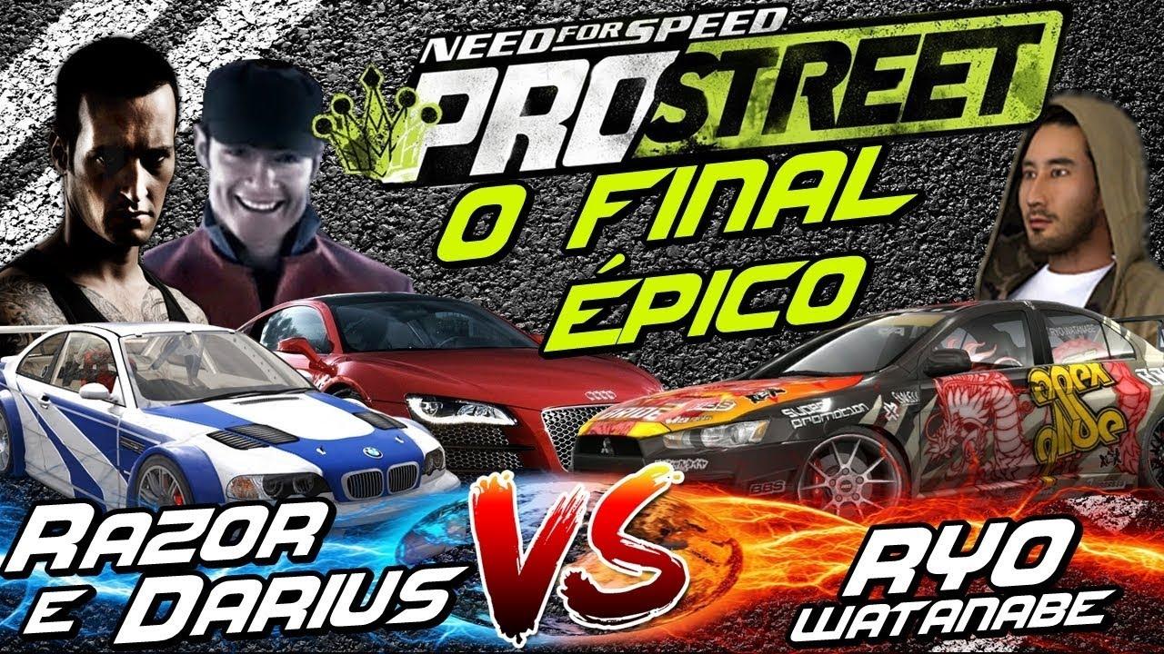 NFS: ProStreet - RAZOR & DARIUS VS RYO - O FINAL ÉPICO!
