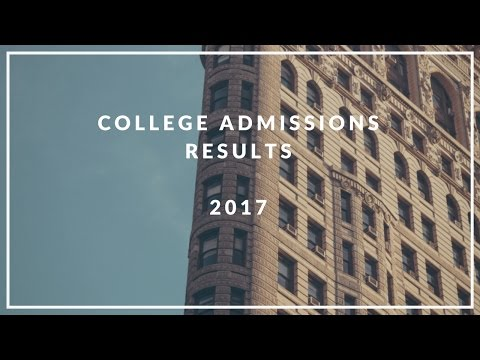 My College Admission Decisions + Where I Will Be Going in the Fall 2017 | My College Life