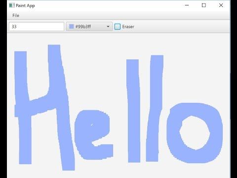 JavaFX Software Tutorial: Paint (MVC)