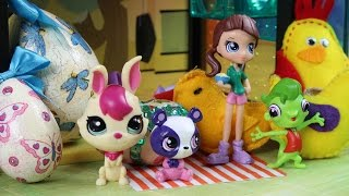 Wielkanocne Ozdoby | Littlest Pet Shop & Jajka wielkanocne | Bajki dla dzieci