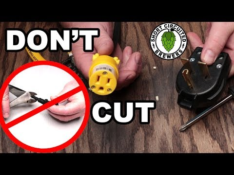 Anvil Foundry 120v to 240v plug adapter DON'T CUT YOUR CORD!!