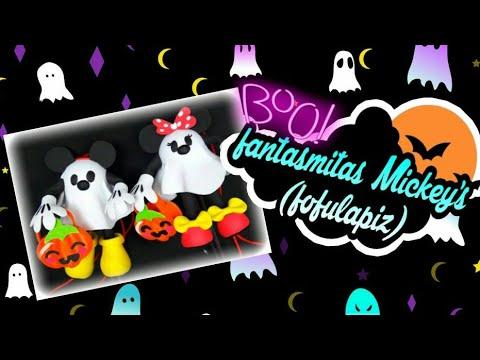 Fofulapiz  Mickey y Minie fantasmitas. 😁😘