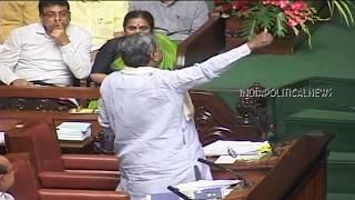 Bengaluru : Karnataka CM Siddaramaiah Remarks on Union Govt at State Assembly : 22-02-2018