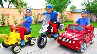 Kids Play with Car Toys Towing Sportsbike | Super Day
