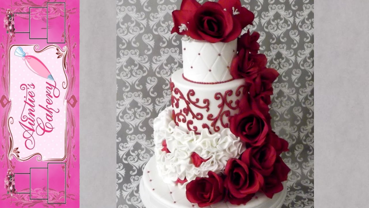 Red Red Rose Wedding Cake   YouTube Red Red Rose Wedding Cake