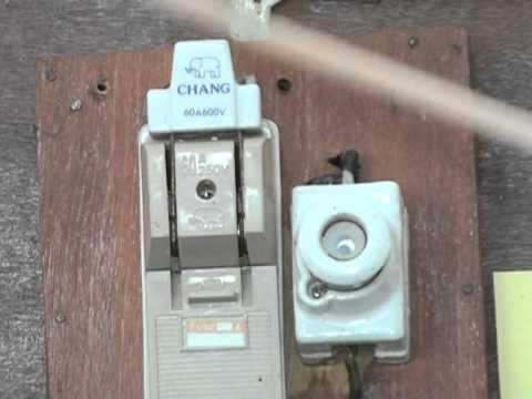 1.การติดตั้งอุปกรณ์ไฟฟ้าภายในบ้าน