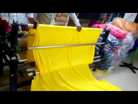 Fully Automated Fabric Roll Packing Machine textile market surat | होलसेल कपड़ा मार्केट सूरत |