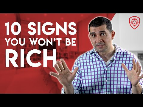 10 Signs You Won't Be Rich