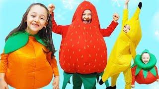 Öykü Pretend Play Dress Up Fruit & Funny Costumes  Kids Video Oyuncak Avı