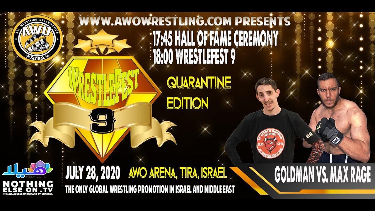 AWO WrestleFest 9 Max Rage vs. Goldman