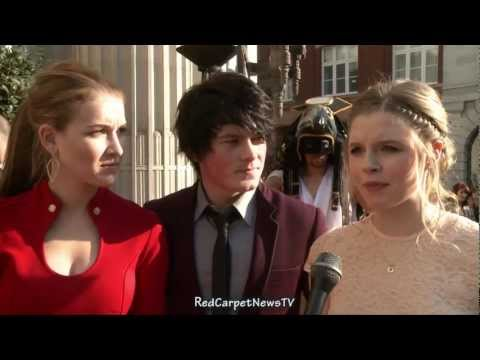 Nathalia Ramos Brad Kavanagh & Ana Mulvoy Ten   House of Anubis Season 2 UK Premiere