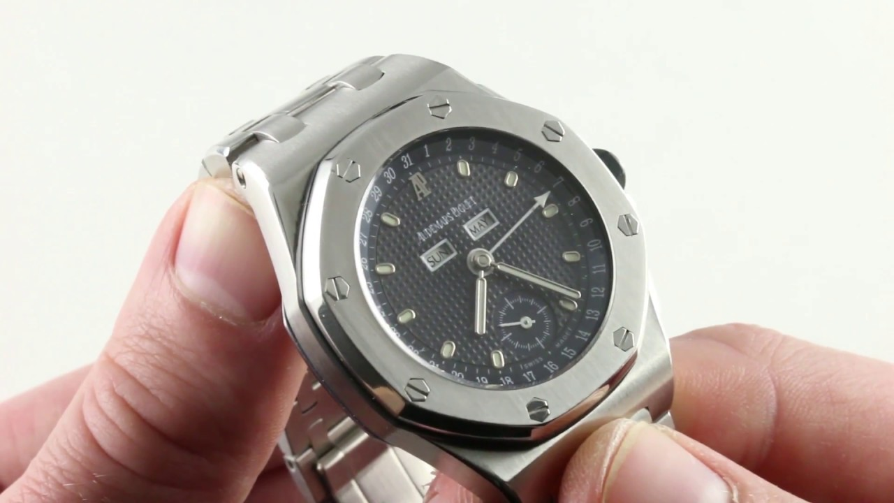 d68b67ef756 Audemars Piguet Royal Oak Offshore Full Calendar 25807ST.O.1010ST.01 Luxury  Watch Review