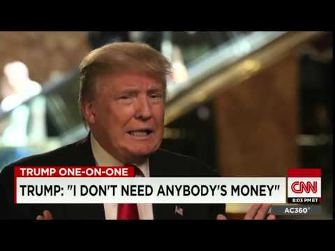 CNN News July 23 2015 Donald Trump interview part 1