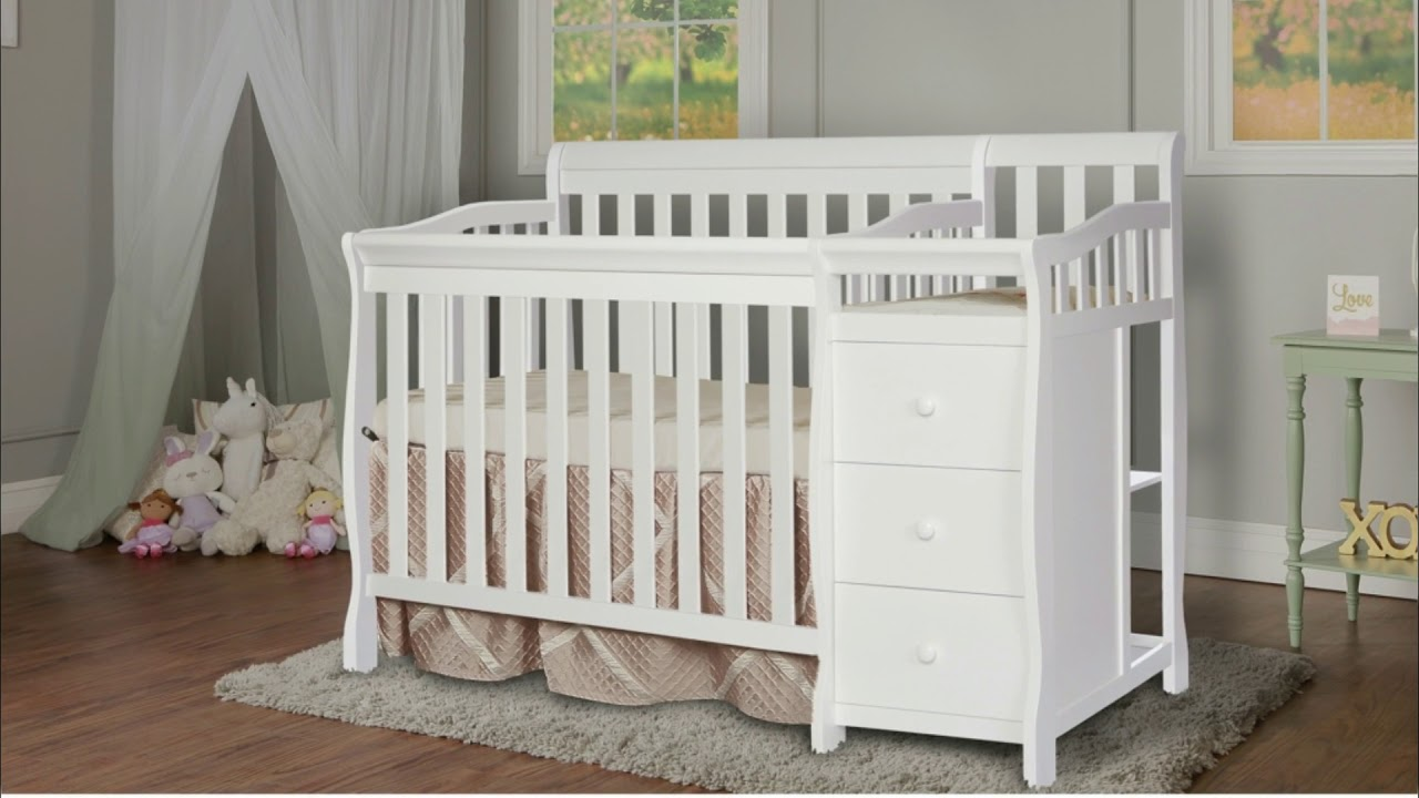 Dream On Me Jayden 4 In 1 Mini Convertible Crib With Changer Youtube