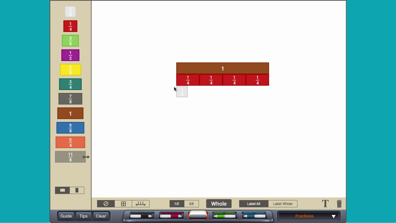 Equivalent Fractions  With Cuisenaire� Rods