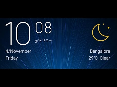 Get Weather clock in MIUI | Have Clock and Weather report in same widget
