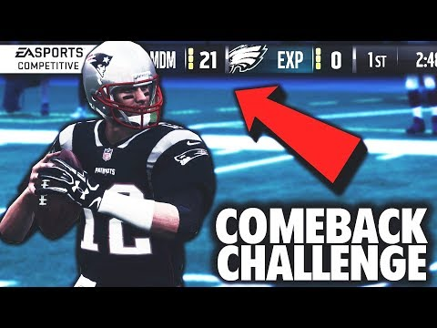 I WAS DOWN 21-0 AND THIS HAPPENED... Madden 18 Challenge